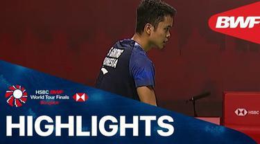 Berita Video Anthony Ginting Kalahkan Wakil Malaysia di BWF World Tour Finals 2020 (29/1/2021)