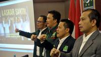 Menurut Muhaimin isu penghapusan Kementerian Agama menyesatkan. Partai Kebangkitan Bangsa (PKB) akan menjadi pihak pertama yang menentang hal itu, Jakarta, Selasa (17/09/2014) (Liputan6.com/Johan Tallo)