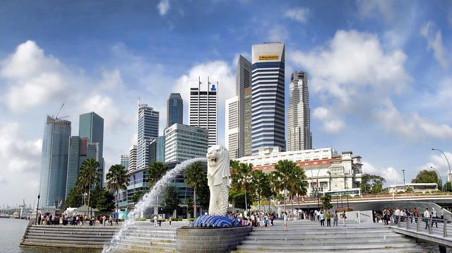 Merlion Park, Singapura. (dok. Graham-H/Pixabay/Tri Ayu Lutfiani)