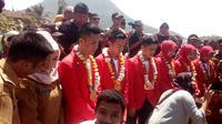 Penyambutan atlet Asian Games peraih emas asal Garut (Liputan6.com/Jayadi Supriadin)