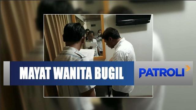 Seorang wanita ditemukan tewas dalam keadaan bugil di dalam kamar hotel di Karawang, Jawa Barat.