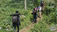 Pendakian Gunung Slamet dari Jalur Bambangan, Purbalingga, Jawa Tengah. (Foto: Liputan6.com/Kominfo PBG/Muhamad Ridlo)