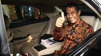 Menteri Pertanian, Andi Amran Sulaiman usai berdiskusi dengan Pimpinan KPK, Jakarta, Jumat (24/2). Pertemuan tersebut membahas tatakelola pangan sebagai sektor strategis yang menjadi salah satu prioritas KPK. (Liputan6.com/Helmi Afandi)