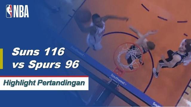 T.J. Warren mencetak 27 poin, Deandre Ayton mencetak double-double dengan 17 poin dan 10 rebound ketika Suns memuncaki Spurs, 117-96.
