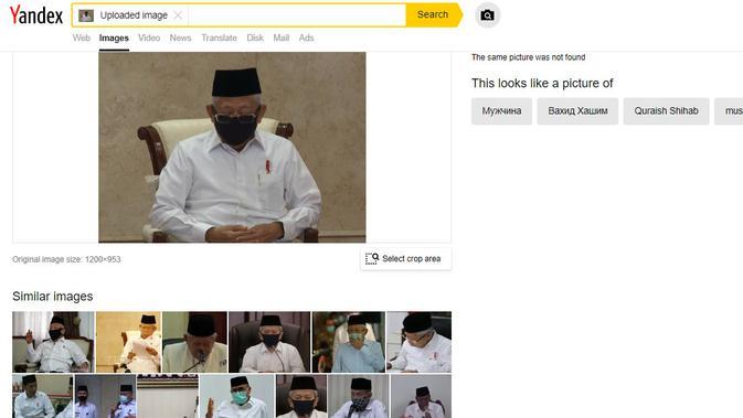 Penelusuran kalim foto Wakil Presiden Ma'ruf Amin sedang dihipnotis selebriti Uya Kuya
