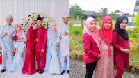 Viral Tiga Kakak Beradik Menikah hingga Melahirkan Bareng, Kompak (Sumber: TikTok/@suriati94)