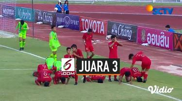 Bertanding melawan Timnas Vietnam U-15 dalam laga perebutan tempat ketiga di Stadion IPE 1, Chonburi, Thailand, Jumat (9/8/2019), skuat berjulukan Garuda Asia itu menang 3-2 lewat adu penalti setelah bermain 0-0 dalam waktu normal 80 menit.