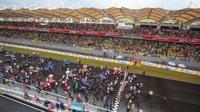Pergelaran MotoGP Malaysia 2016 di Sirkuit Internasional Sepang, 28-30 Oktober 2016, mampu menyedot sebanyak 161.533 penonton yang menjadi rekor terbanyak sepanjang sejarah. (Sepang International Circuit)
