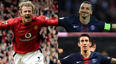 Manchester United dan PSG merupakan satu dari sekian tim besar eropa yang memiliki catatan sejarah yang besar. Tidak mengherankan jika terdapat beberapa pemain yang pernah membela kedua klub tersebut. (Kolase Foto AFP)