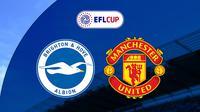Piala Liga Inggris: Brighton vs Manchester United. (Bola.com/Dody Iryawan)