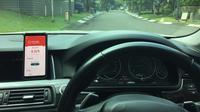 Sekelompok mahasiswa UGM mengembangkan sebuah aplikasi yang bisa digunakan untuk mencegah terjadinya kecelakaan lalu lintas. (Liputan6.com/ Switzy Sabandar)
