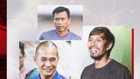 Widodo C. Putro, Kurniawan Dwi Yulianto, Budi Sudarsono. (Bola.com/Dody Iryawan)