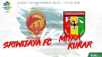Liga 1 2018 Sriwijaya FC Vs Mitra Kukar (Bola.com/Adreanus Titus)