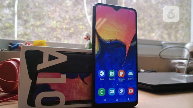 Review Samsung Galaxy A10 Tampak Premium Performa Sesuai Harga Tekno Liputan6 Com