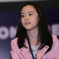 Gaya Clarice Cutie di acara XYZ Day 2018 terlihat menarik. (Photografer: Adrian Putra/Bintang.com)