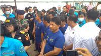 Oknum anggota DPRD Langkat ditangkap karena terlibat dalam pengungkapan 105 kg sabu dan 30 ribu ekstasi. (Liputan6.com/Reza Efendi)
