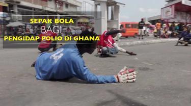 Berita video serunya sepak bola oleh para pengidap polio di jalanan Kota Accra, Ghana. Mereka menganggap aktivitas tersebut bukan sekadar olahraga. Mereka memanfaatkan momen tersebut untuk bertemu teman dan libur dari rutinitas sehari-hari sebagai pe...