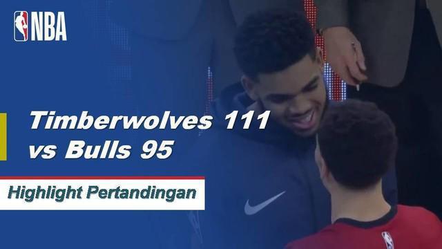Karl Anthony-Towns menjadi gila dengan 35 poin dan 22 rebound ketika Timberwolves menang atas Bulls.