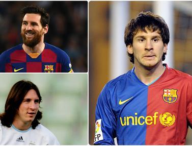 Perubahan Wajah Lionel Messi dalam Satu Dekade Lebih