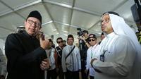 Menteri Agama (Menag) Lukman Hakim Saifuddin di Arafah. Bahauddin/MCH