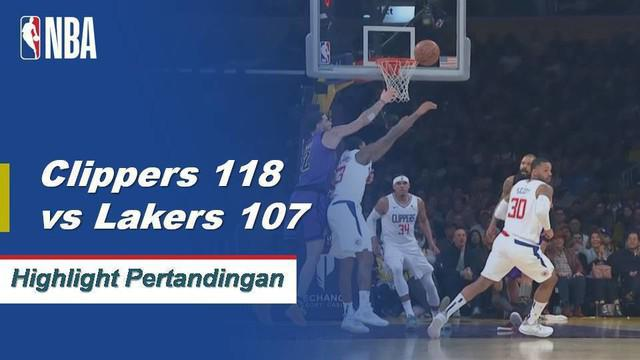 Lou Williams mencetak 36 poin musim tertinggi dan meraih tujuh rebound saat Clippers menjatuhkan Lakers, 118-107.