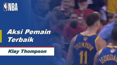 Berita video aksi-aksi dari pemain terbaik game 2 final NBA 2018-2019, Golden State Warriors, Toronto Raptors, Klay Thompson.