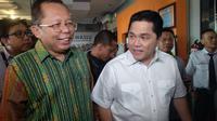 Ketua Timses Jokowi-Ma'ruf Amin, Erick Thohir dan Arsul Sani mendatangi Bawaslu