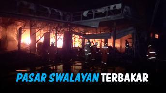 VIDEO: Pasar Swalayan di Cilandak KKO Terbakar, Damkar Kesulitan Sumber Air