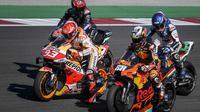 Kembalinya Marc Marquez di lintasan balap MotoGP diyakini bakal menambah sengit rivalitas para pembalap. (Photo by PATRICIA DE MELO MOREIRA / AFP)