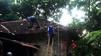 Fonemena tanah bergerak dan uap panas di Dusun Kayen, Sampang, Gedangsari, Gunungkidul, DIY. (Liputan6.com/Yanuar H)