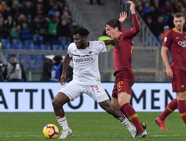 Imbang di Markas AS Roma, AC Milan Pangkas Poin dengan Inter Milan