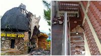 Potret Dampak Gempa Malang. (Sumber: Twitter/@nikilo2512/@HerrySu32920786)