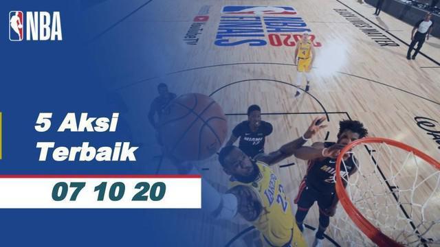 Berita Video 5 Aksi terbaik salah satunya dari Anthony Davis yang gagalkan lay up Jimmy Butler di Final NBA 2020