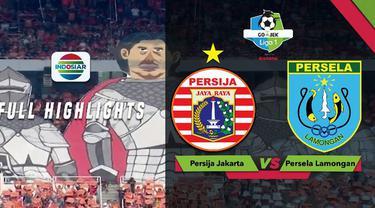 Persija Jakarta menang telak atas tamunya Persela Lamongan dalam lanjutan Gojek Liga 1 2018 bersama Bukalapak di Stadion Utama Gelora Bung Karno, Selasa (20/11/2018)