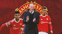 Manchester United - Casemiro, Zinedine Zidane, Toni Kroos (Bola.com/Adreanus Titus)