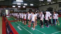 Puluhan anak yang mengiikuti coaching clinic yang digelar Djarum Foundation senang mendapat ilmu dari legenda bulutangkis Indonesia.