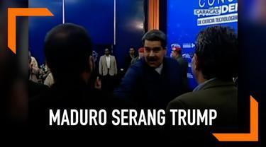 Maduro dalam suasana menantang setelah pidato Trump. Ia bahkan menyebut Presiden AS itu seperti Nazi.