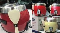 duh, rice cooker digunakan sebagai helm (foto: izismile.com)