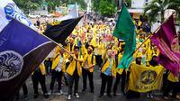 Badan Eksekutif Mahasiswa (BEM) dan Ikatan Alumni (ILUNI) Universitas Indonesia (UI) lintas almamater mengelar Rapat Akbar Gerakan Anti Korupsi (GAK) Nasional di kampus UI Salemba, Jakarta, Jumat (20/3/2015).  (Liputan6.com/Yoppy Renato)
