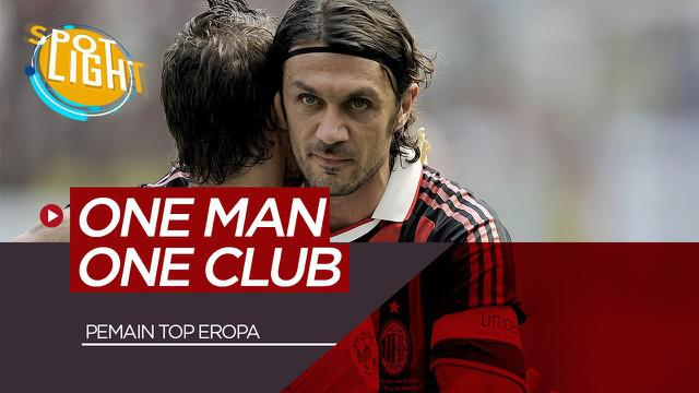 Berita Video Spotlight Paolo Maldini, Francesco Totti, dan 3 Pesepak Bola yang Bermain Untuk Satu Klub Saja
