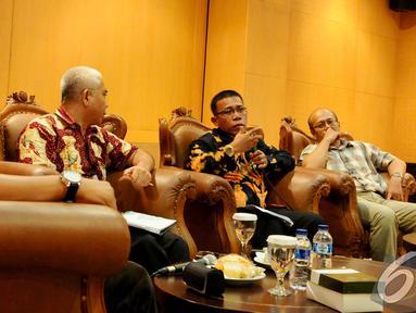 """Suasana diskusi """"Hukuman Mati dan Penegakan HAM"""" di Gedung MPR RI, Jakarta, Senin (15/12/2014). (Liputan6.com/Andrian M Tunay)"""