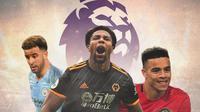 Premier League - Kyle Walker, Adama Traore, Mason Greenwood (Bola.com/Adreanus Titus)