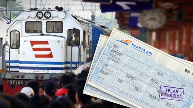 Ilustrasi tiket kereta api
