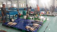 Pabrik Unit Pengolahan Ikan (UPI) di Kota Bitung, Sulawesi Utara. (Bawono/Liputan6.com)