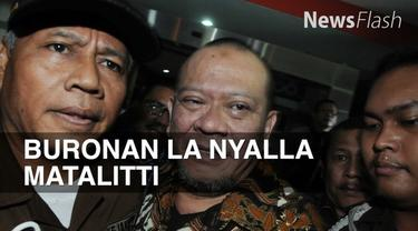 La Nyalla Mattalitti lihai bersembunyi. Selama di Singapura keberadaan dia tak terdeteksi.