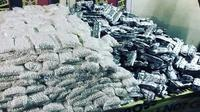 Barang bukti 570.000 butir obat PCC yang diamankan tim Resmob Polda Sulsel (LIputan6.com/ Eka Hakim)