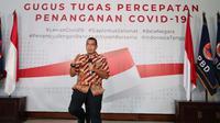 Staf Khusus Menteri BUMN, Arya Mahendra Sinulingga bicara soal siapa saja pasien yang dirawat di RS Darurat COVID-19 Wisma Atlet dan RS Pertamina Jaya di Graha BNPB, Jakarta, Selasa (24/3/2020). (Dok Badan Nasional Penanggulangan Bencana/BNPB)