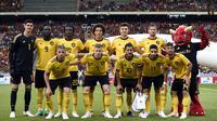 7. Belgia - Dalam gelaran Piala Dunia kali ini setan merah hadir dengan label skuat golden era. Mulai dari Eden Hazard, Romelu Lukaku hingga Kevin De Bruyne akan menjadi senjata mematikan bagi Belgia. (AFP.John Thys)