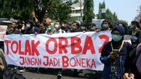 Ribuan mahasiswa Yogyakarta menggelar aksi gejayan memanggil pada Senin, 23 September 2019 (Liputan6.com/ Switzy Sabandar)