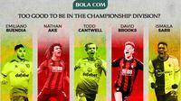 Deretan 5 pemain yang tak pantas bermain di Divisi Championship. (Bola.com/Gregah Nurikhsani)